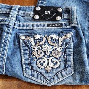Miss Me Girls 12 Bermuda Jean Short Bling Studded